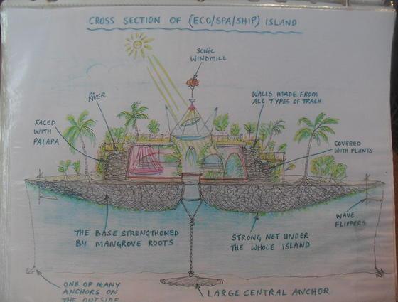 Joysxee Island Framework joysxee floating bottle island