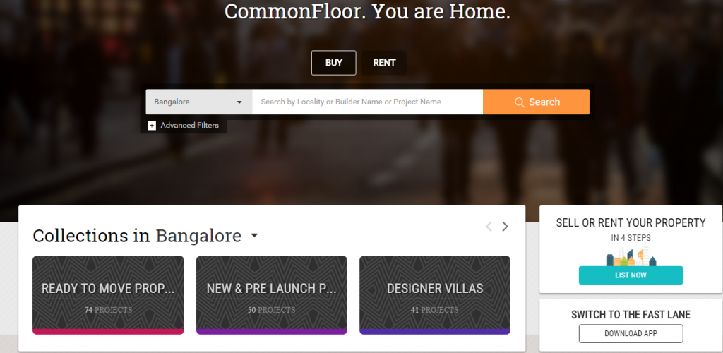 commonfloor gosmartbricks real Estate Portals in India