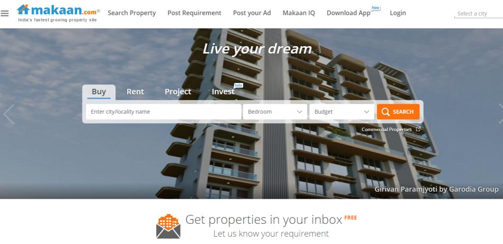 makan_gosmartbricks_com real Estate Portals in India
